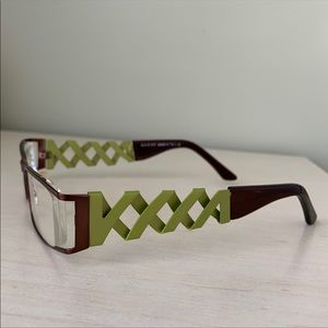 GUCCI Brown and Green Eyeglasses Frames